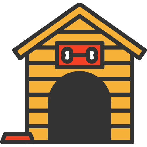 512x512 Doghouse, Buildings, Tools And Utensils, Dog House, Dog, Kennel Icon