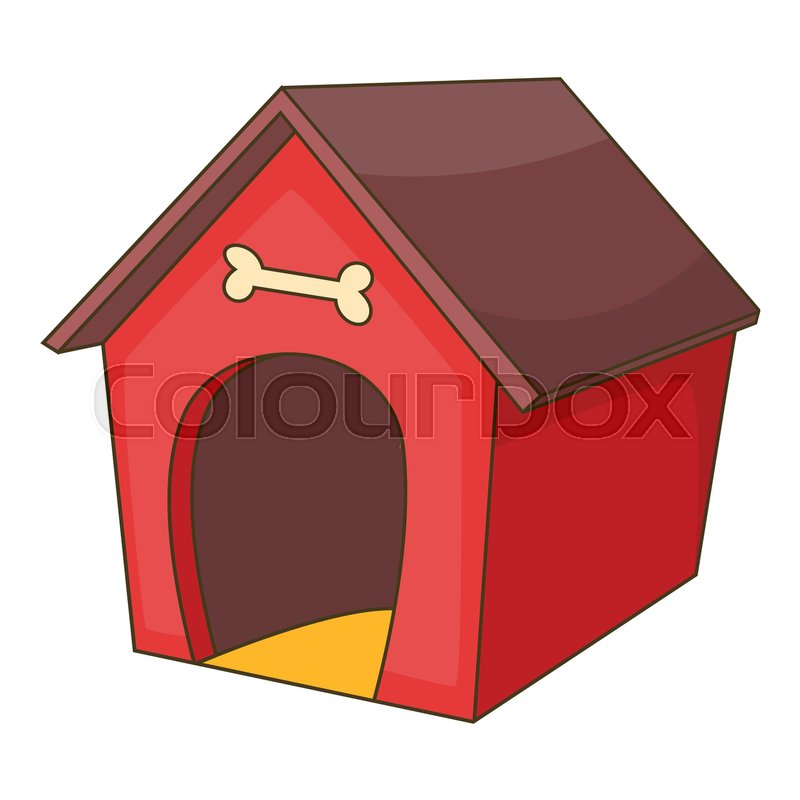 800x800 Red Dog House Icon. Cartoon Illustration Of Dog House Vector Icon