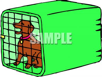 350x264 Cage Clipart Dog Cage
