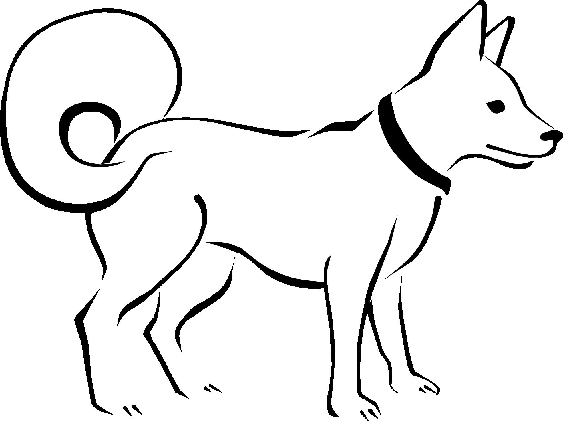 1969x1475 Black And White Dog Clip Art Cliparts