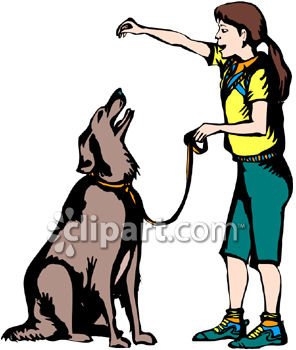 296x350 A Girl Training A Dog With Food