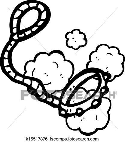 416x470 Clip Art Of Cartoon Dog Leash K15517876