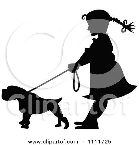 450x470 Royalty Free (Rf) Dog Walking Clipart, Illustrations, Vector