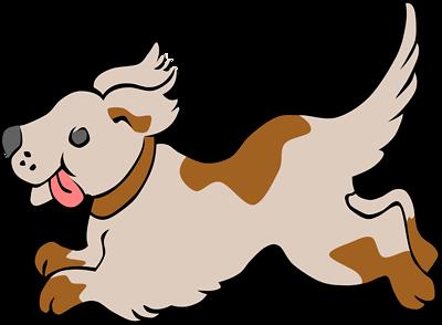 400x294 Dog Holding Leash Clipart