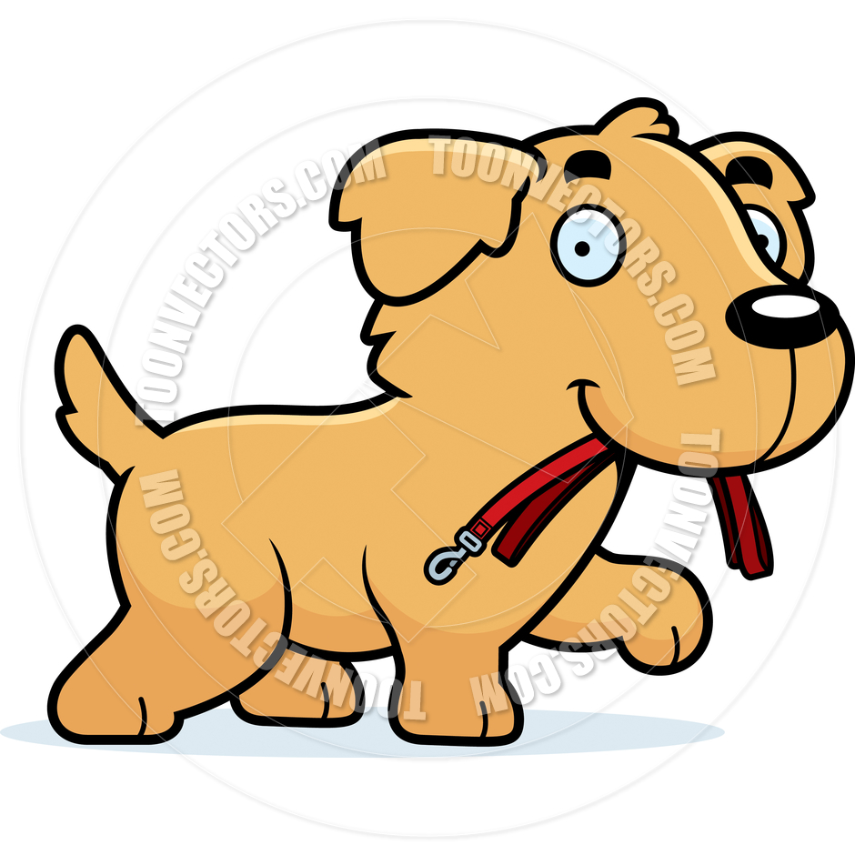 940x940 Cartoon Golden Retriever Dog Leash By Cory Thoman Toon Vectors