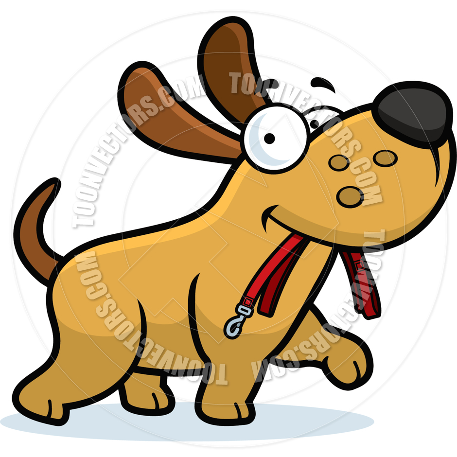 940x940 Cartoon Puppy Dog Leash By Cory Thoman Toon Vectors Eps