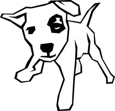 383x368 Boxer Dog Outline Drawing Free Vector Download (91,341 Free Vector