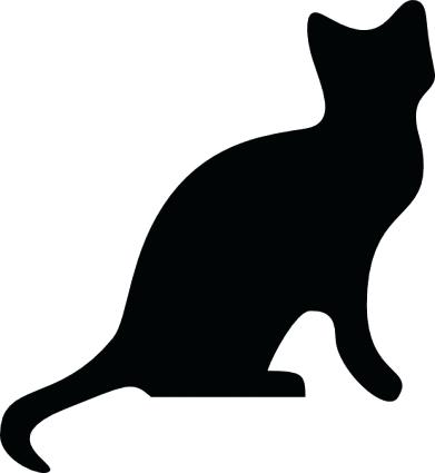 391x425 Cat Clipart Cats Chalkboard Cats Clip Art Tribal Cats Cat