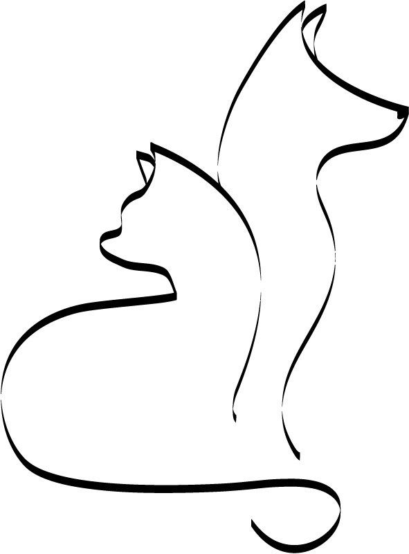 591x800 41 Best Dog Outline Tattoo Images Cats, Chest