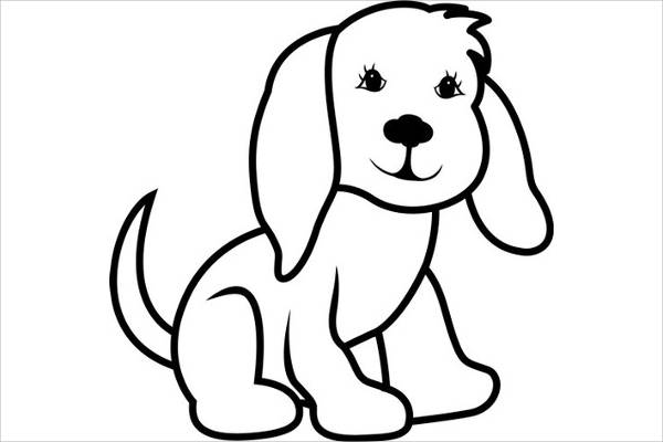 Free Download Best Dog Outline Clip