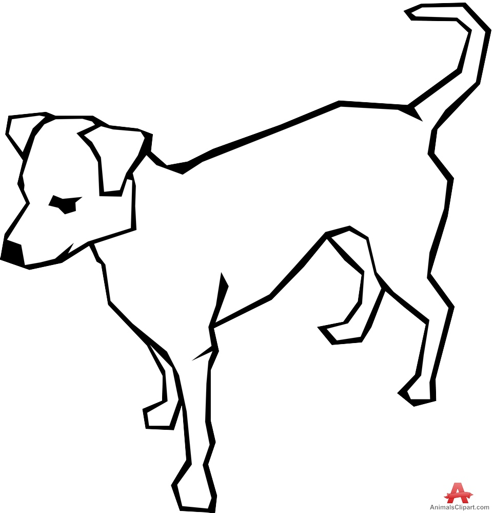 963x999 White Dog Outline Design Free Clipart Design Download