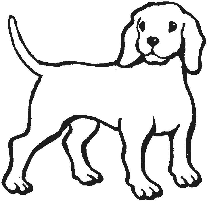 720x697 Puppy Outline Clipart