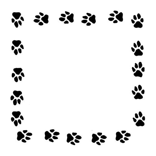 Dog Paw Border
