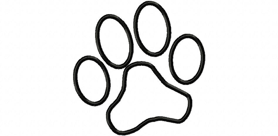 Paw print outline. Dog free download best