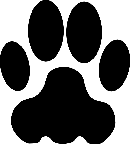 Dog Paw Outline Clipart