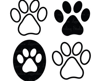 340x270 Dog Paw Gallery For Cat Clip Art Print Image