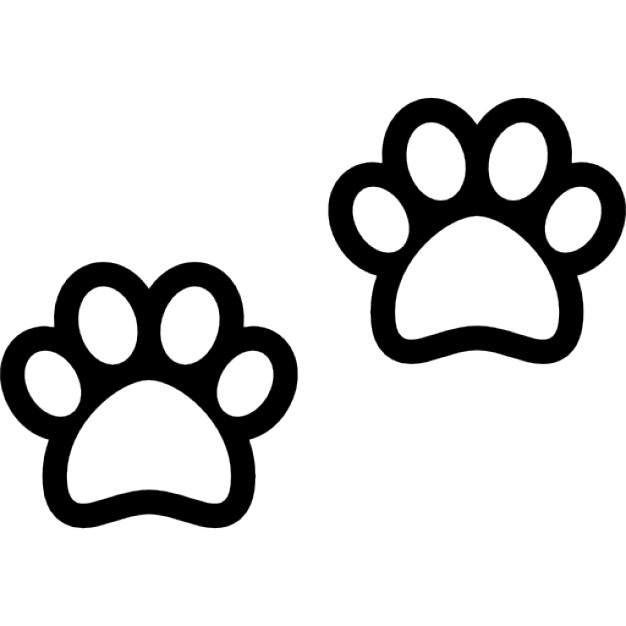626x626 Dog Paws Outline Icons Free Download