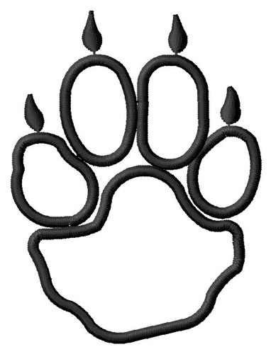 382x500 Paw Outline