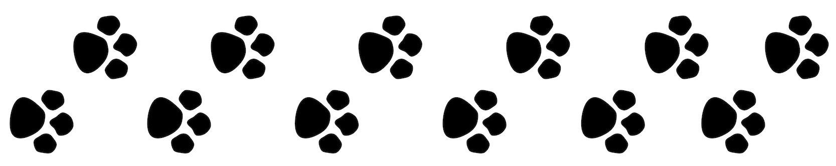1667x331 Paw Print Outline Clipart