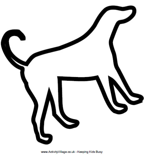 460x495 Best Photos Of Puppy Outlines To Print