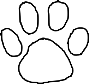298x282 Tiger Paw Print Outline Clip Art