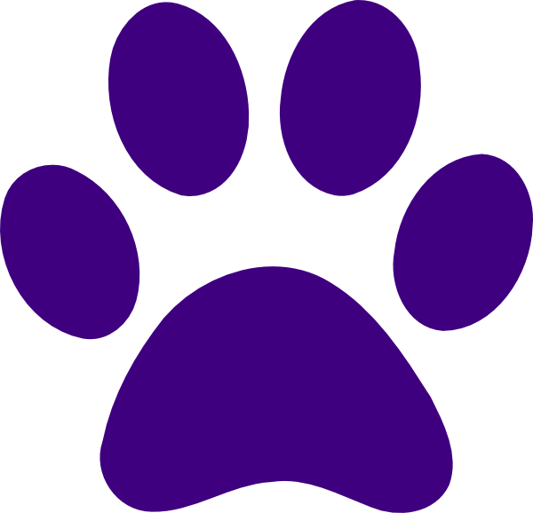 600x578 Dark Purple Dog Paw Print Clipart