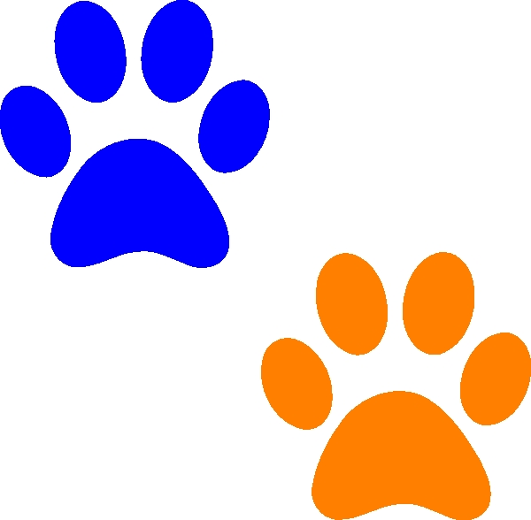 600x588 Free Clipart Dog Paws