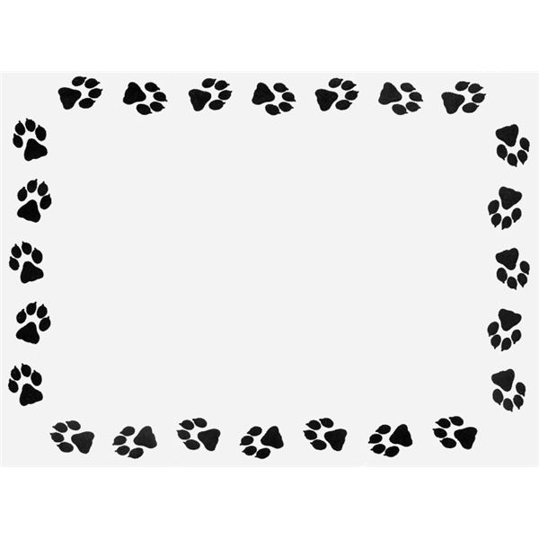 600x600 Paw Clipart Frame