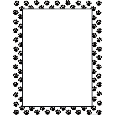 400x400 Paw Print Paw Border Clipart 5
