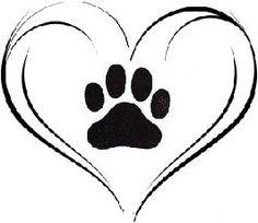 236x204 Paw Print Heart Clipart