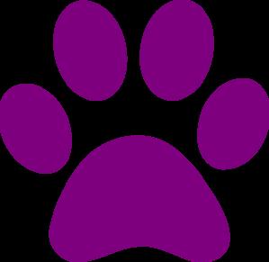 299x291 Purple Paw Print Clip Art