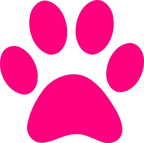 Dog Paw Prints Clipart