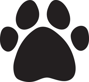 300x278 Paw Print Clipart Image
