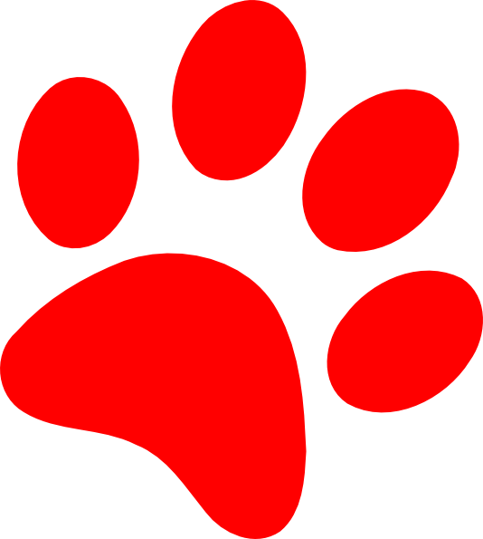 534x595 Cat Paw Print Clip Art