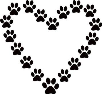 355x329 Paw Prints Dog Paw Print Clip Art Free Download 7
