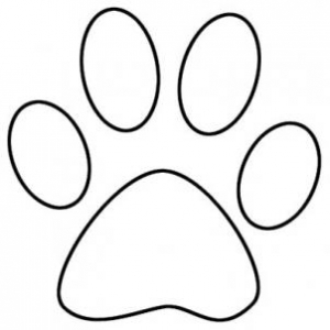 300x300 Free Paw Print Outline Clip Art