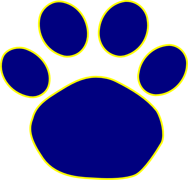 600x574 Paw Print Wildcats On Dog Paws Paw Tattoos And Clip Art Image 5