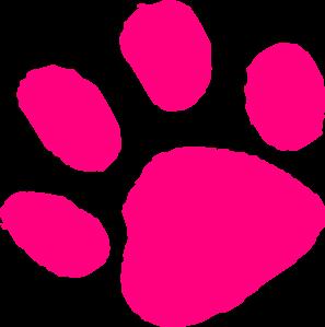 297x299 Pink Paw Print Clip Art