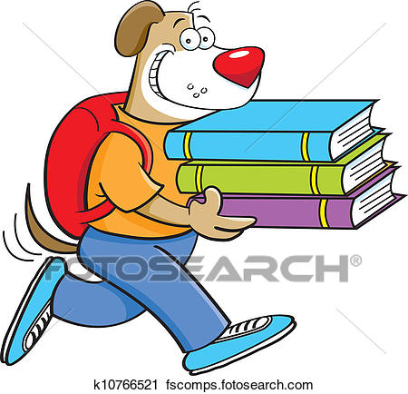 450x434 Clipart Of Dog Student K10766521
