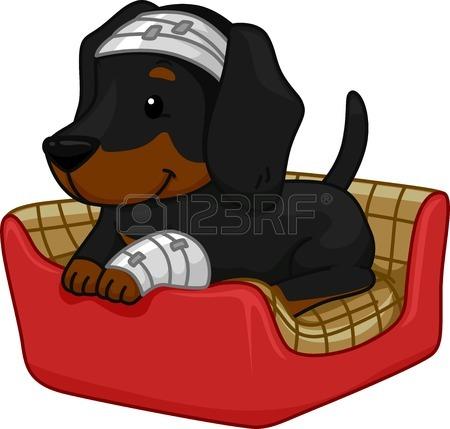 450x429 Illustration Of A Cute Dog Sitting On A Birthday Cake Royalty Free