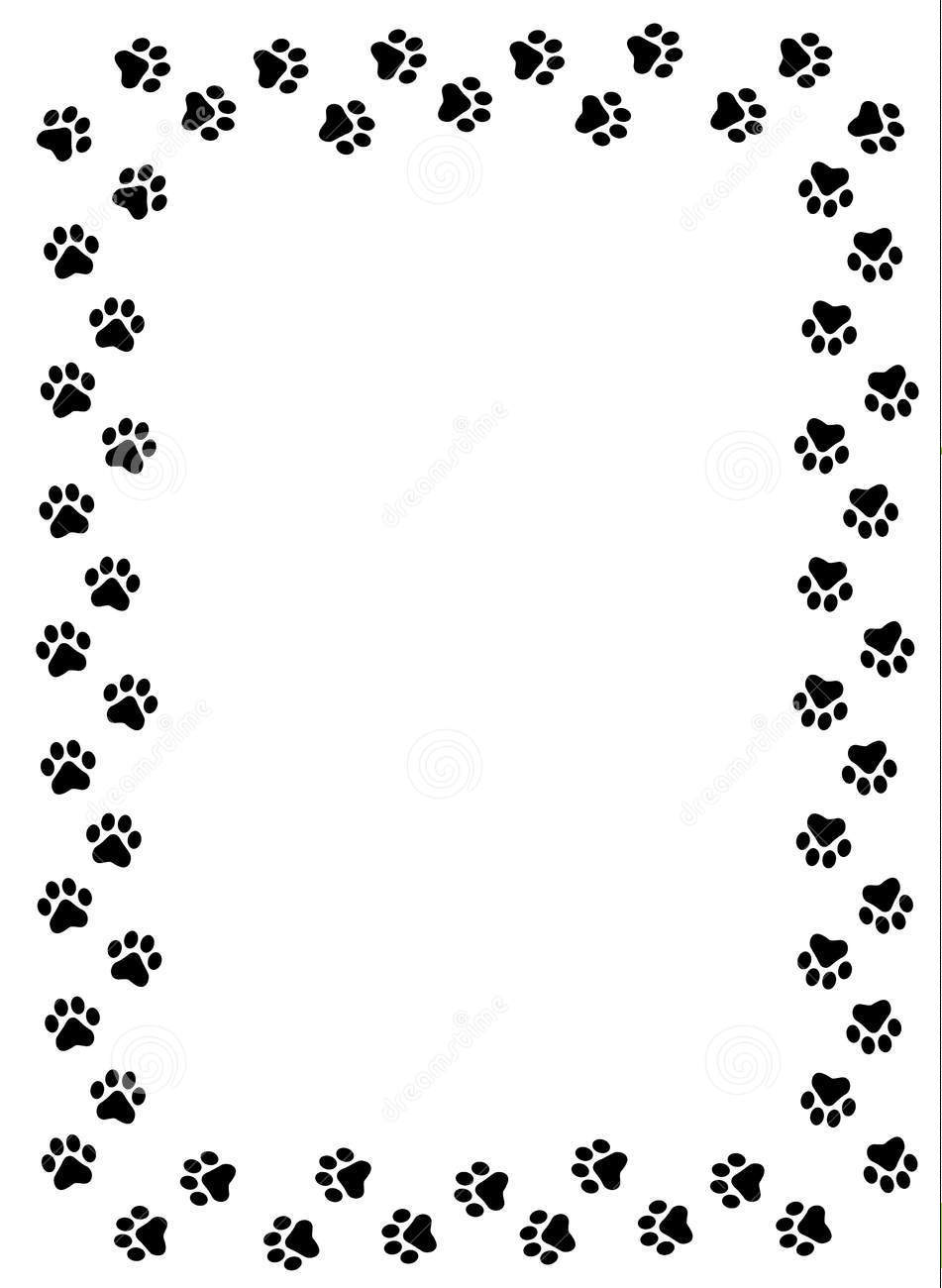 951x1300 Cat Paw Dog And Cat Border Clipart Kid