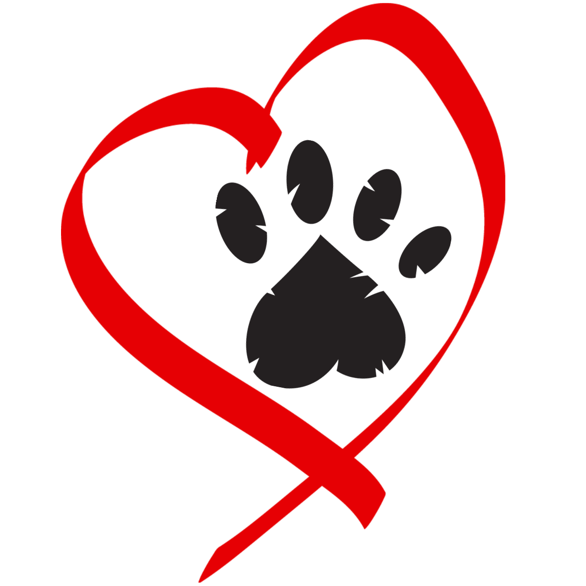 1200x1200 Heart Clipart Dog And Cat