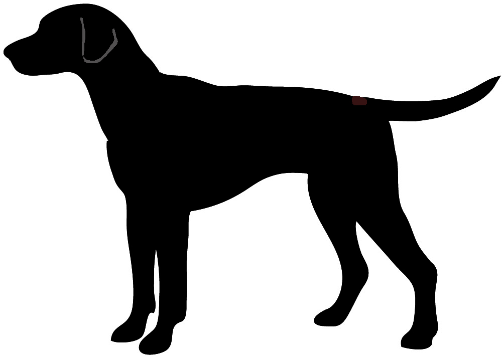 1000x714 Clipart Silhouette Dog