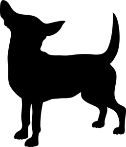 258x300 Dog Silhouette Clipart Image
