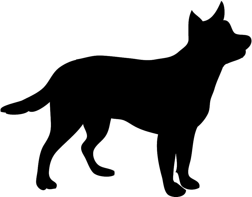 1000x784 Dog Silhouette