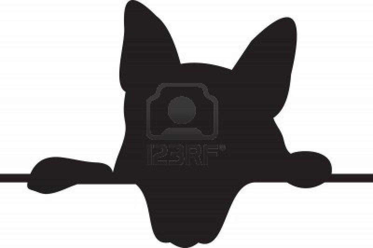 1200x798 Dog Sitting Silhouette Clipart