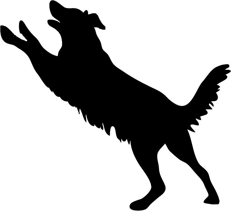 800x732 Jumping Dog Silhouette Clip Art