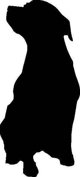 270x598 Rottweiler Dog Silhouette Clip Art