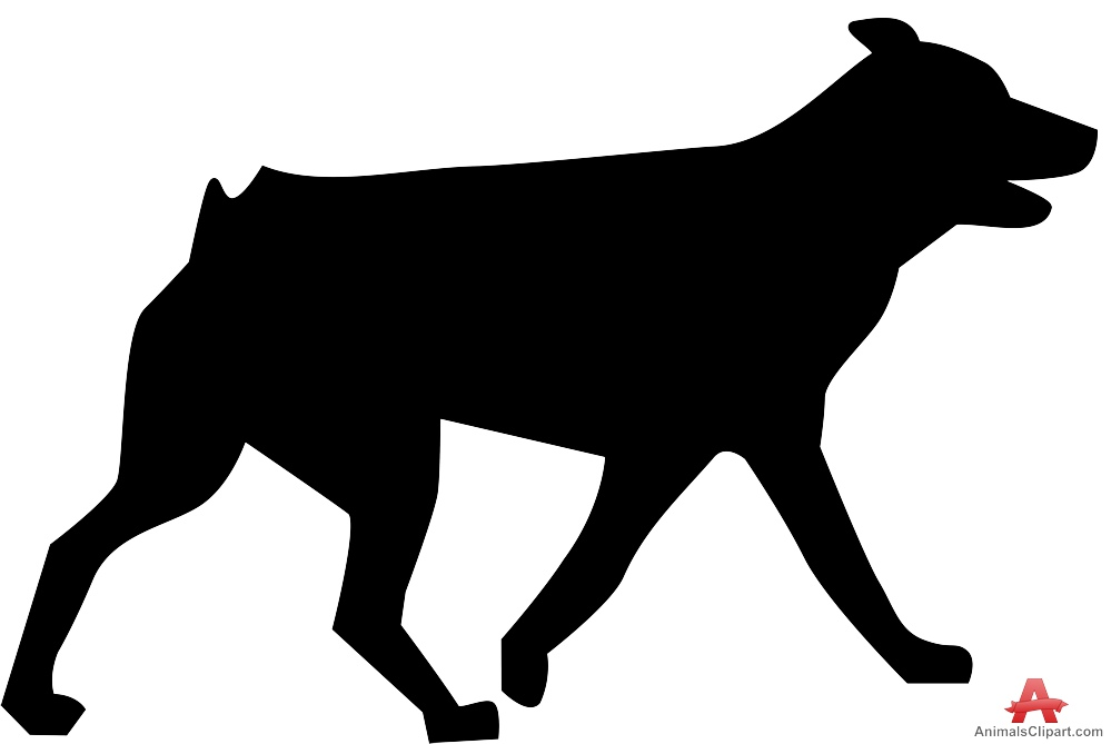 999x669 Tailless Dog Silhouette Free Clipart Design Download