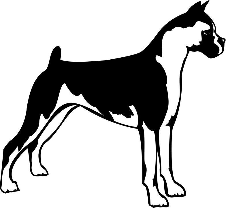 784x722 Boxer Dog Silhouette Clipart